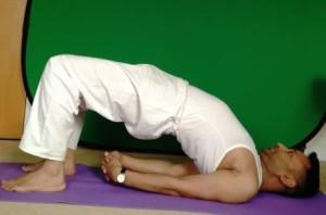 Yoga Pose Bridge Setu Bandhasana Subodh Gupta