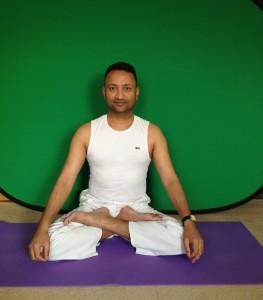 Subodh Gupta Padmasana Lotus pose
