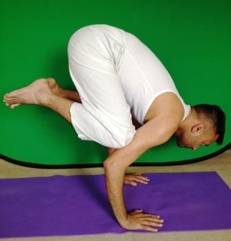 yoga pose crow bakasana benefits and precautions
